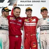 Lewis Hamilton, Sebastian Vettel e Nico Rosberg