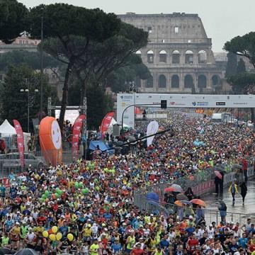 Partenza Maratona di Roma 2015