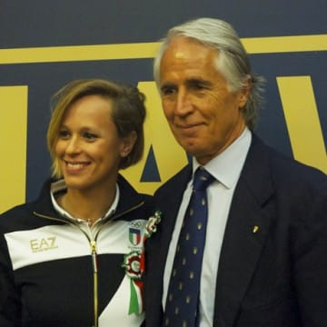 Federica Pellegrini e Giovanni Malagò - Foto Nizegorodcew/Sportface