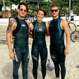 Federico Vanelli, Rachele Bruni e Simone Ruffini, nuoto fondo