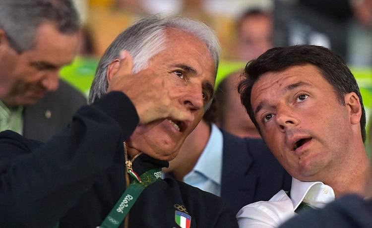 Giovanni Malagò e Matteo Renzi
