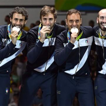 Enrico Garozzo, Paolo Pizzo, Marco Fichera ed Andrea Santarelli