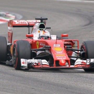 Sebastian Vettel al GP di Monza di F1