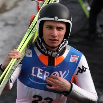 Sebastian Colloredo salto con gli sci