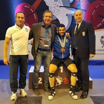 Antonino Pizzolato Campione Europeo Juniores cat. 85 kg, Eilat 08/12/2016
