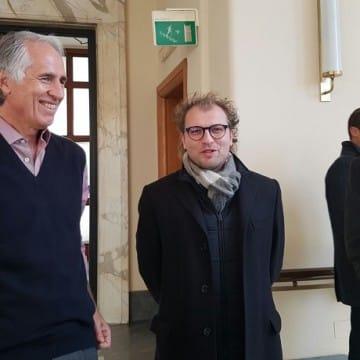 Presidente Coni Malagò, ministro Sport Lotti e capo di gabinetto del Coni Soro