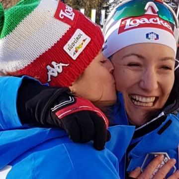 Karin Oberhofer e Alexia Runggaldier al traguardo di Anterselva