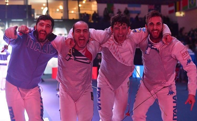 Italia Squadra Fioretto maschile Parigi2017