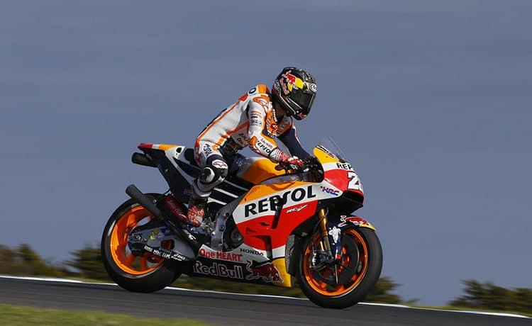 MotoGP Motegi Prove 2 Andrea Dovizioso al comando su pista bagnata