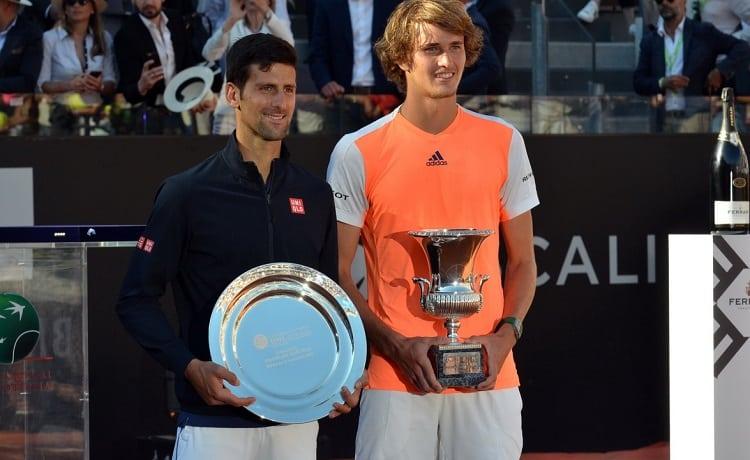 Novak Djokovic, Akexander Zverev - Foto Adelchi Fioriti