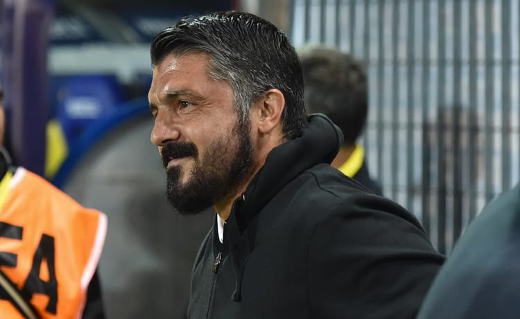 Gennaro Gattuso in panchina