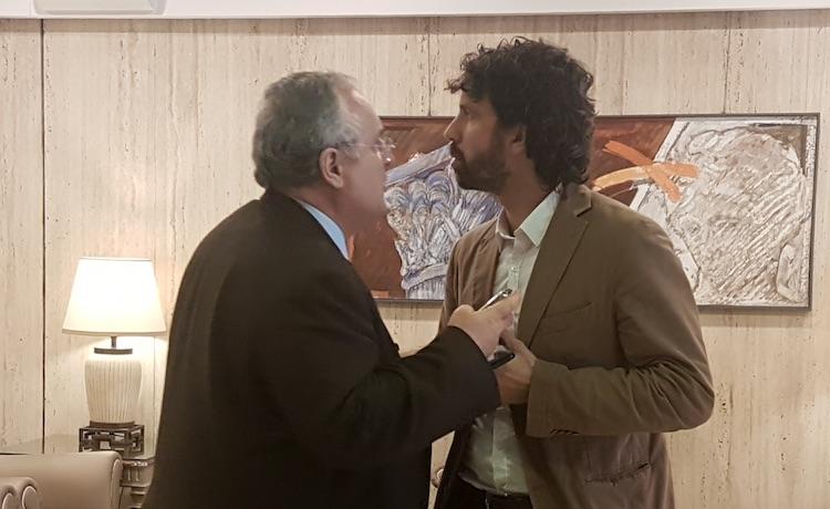Claudio Lotito e Damiano Tommasi