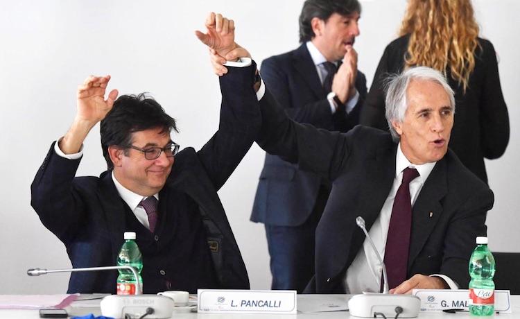Luca Pancalli e Giovanni Malago