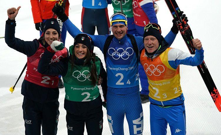 Olimpiadi PyeongChang 2018 - Dorothea Wierer, Lisa Vittozzi, Lukas Hofer, Dominik Windisch
