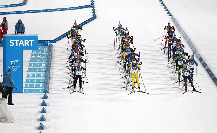 Mass start biathlon a PyeongChang - Foto Pentaphoto / Giovanni Auletta