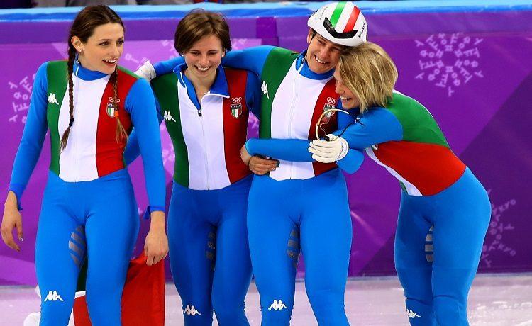 Arianna Fontana, Lucia Peretti, Cecilia Maffei e Martina Valcepina - Photo: Pentaphoto/Marco Trovati.