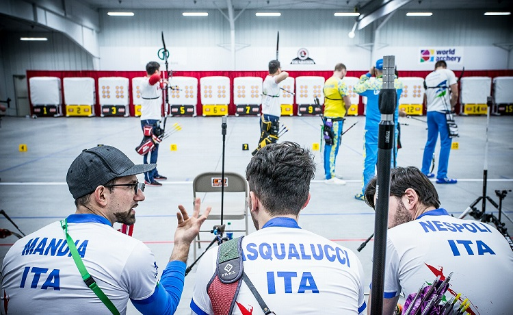 Italia ai mondiali indoor di tiro con l'arco