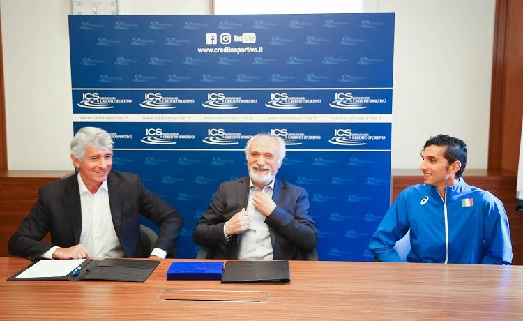 Accordo Fidal-Ics: Alfio Giomi, Andrea Abodi e Marco De Luca