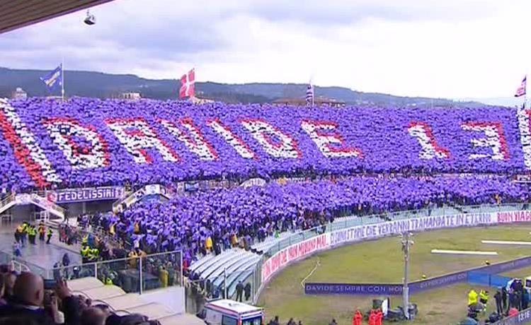 Fiorentina-Benevento curva Fiesole per Davide Astori