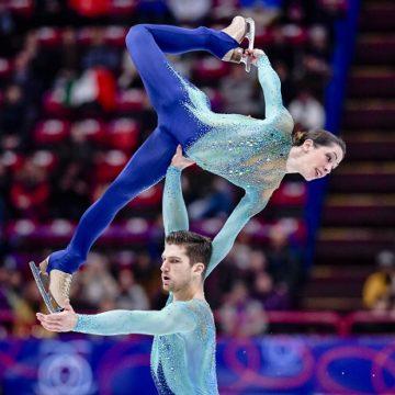 Nicole Della Monica e Matteo Guarise - Mondiali pattinaggio Milano 2018