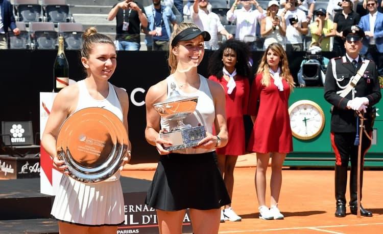 Elina Svitolina e Simona Halep - Internazionali BNL d'Italia 2018