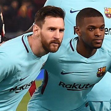 Leo Messi e Nelson Semedo