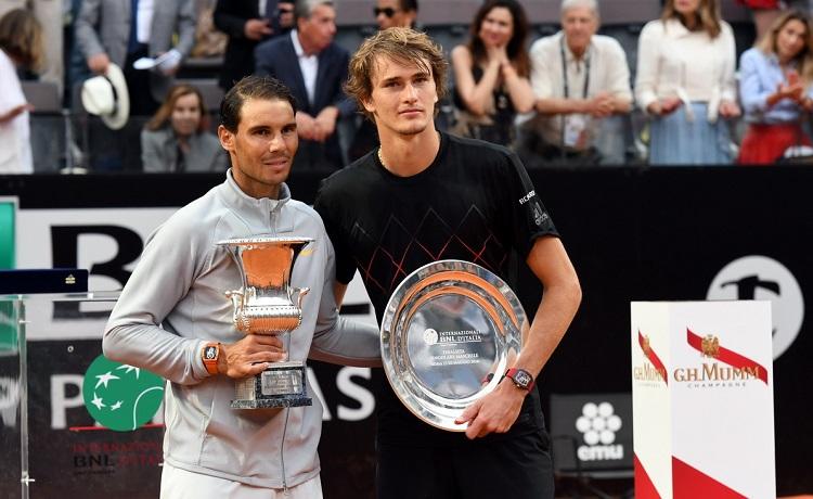 Rafael Nadal e Alexander Zverev - Internazionali BNL d'Italia 2018