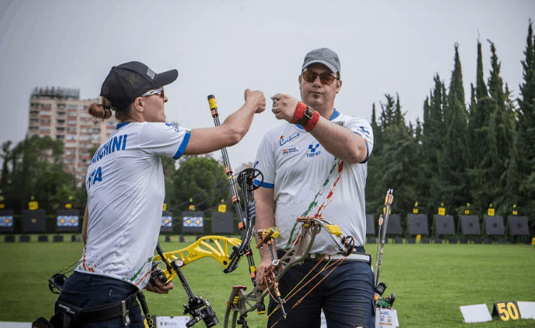 Franchini e Pagni - Foto Fit World Archery Org