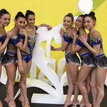 Farfalle squadra Ginnastica ritmica Europei Guadalajara 2018