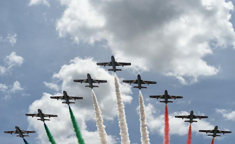 Frecce tricolori Gran Premio d'Italia - Foto Antonio Fraioli