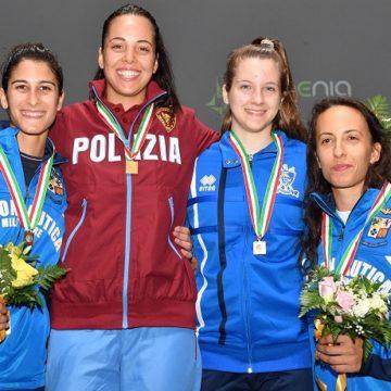 Alice Volpi podio fioretto femminile MILANO2018
