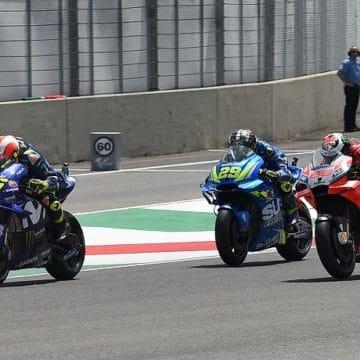 Valentino Rossi, Andrea Iannone e Jorge Lorenzo - Foto Antonio Fraioli