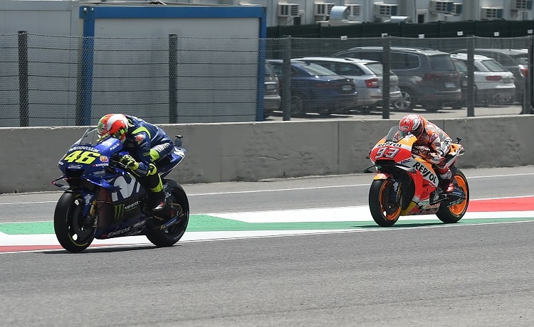 Valentino Rossi e Marc Marquez - Foto Antonio Fraioli