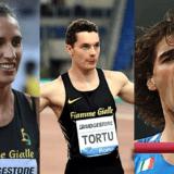 Alessia Trost, Filippo Tortu e Gianmarco Tamberi