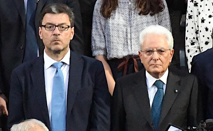 Giancarlo Giorgetti e Sergio Mattarella