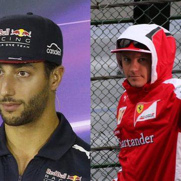 Daniel Ricciardo e Kimi Raikkonen