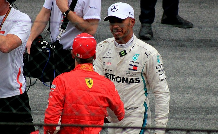Sebastian Vettel e Lewis Hamilton - Foto Lukas Raich - CC-BY-SA-4.0
