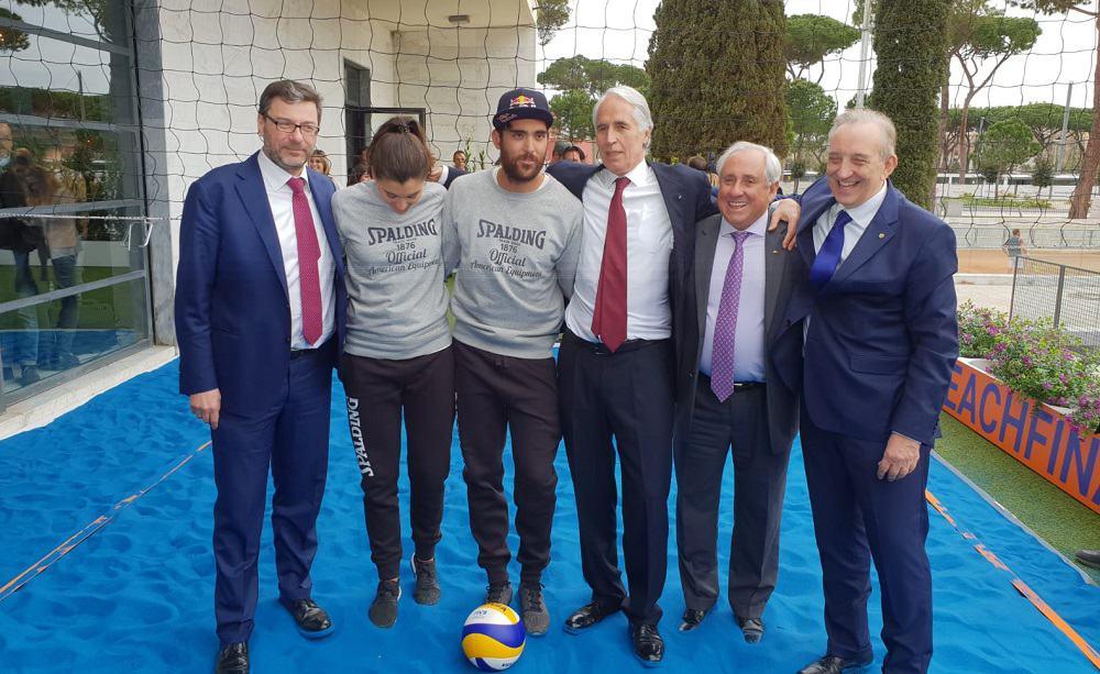 Giovanni Malagò, Giancarlo Giorgetti, Daniele Lupo e Marta Menegatti