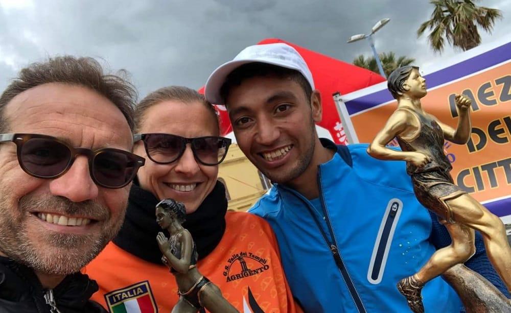 Running Mohmed Idrissi ed Edna Caponnetto