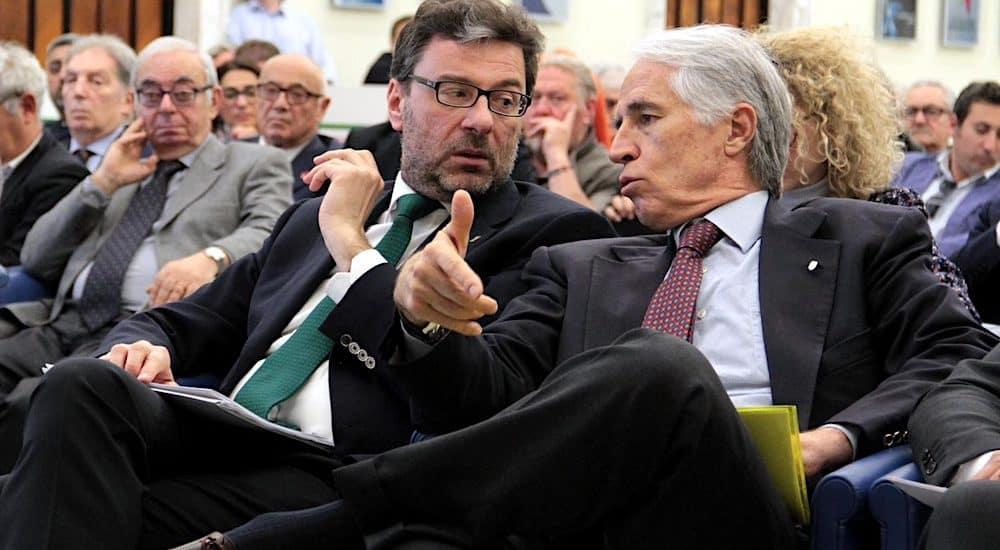 Giancarlo Giorgetti e Giovanni Malagò