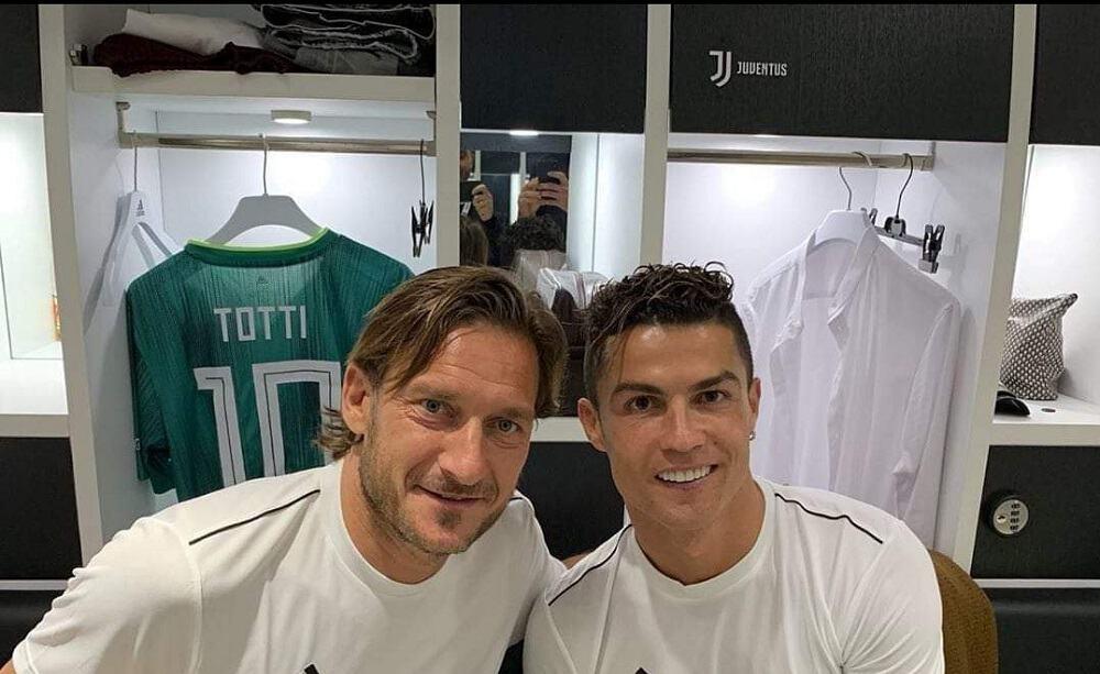 Partita del Cuore 2019, Totti posa con Cristiano Ronaldo: