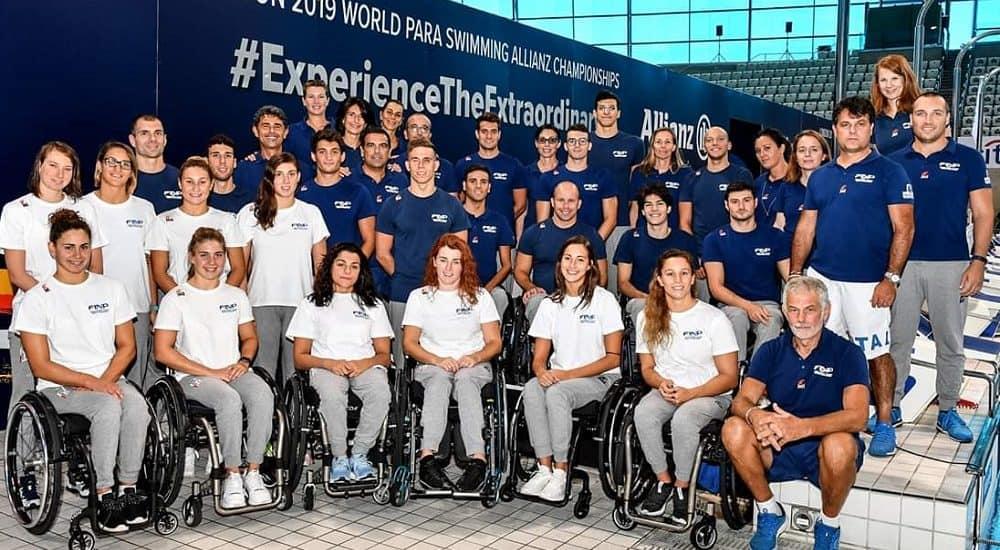 Nazionale nuoto paralimpico Mondiali Londra