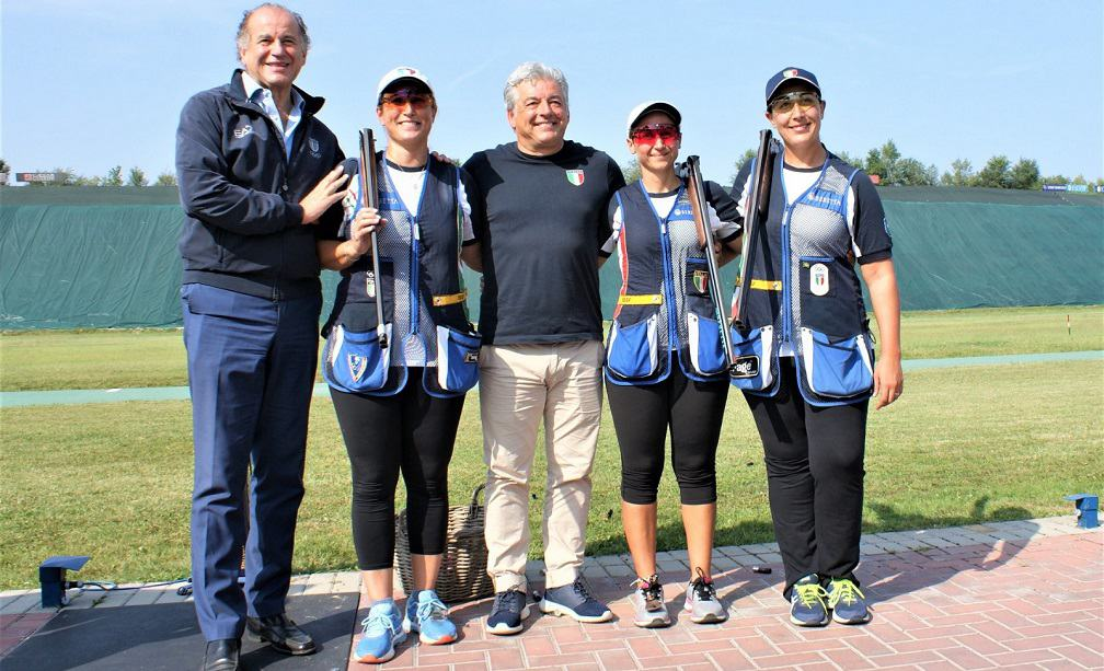 Tiro a volo, Diana Bacosi, Chiara Cainero e Simona Scocchetti - Foto Fitav