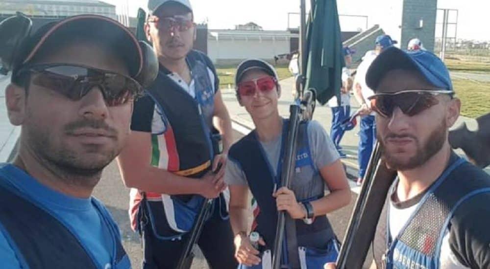 Tiro a Volo Giochi Mondiali Militari - squadra skeet - Foto Fitav