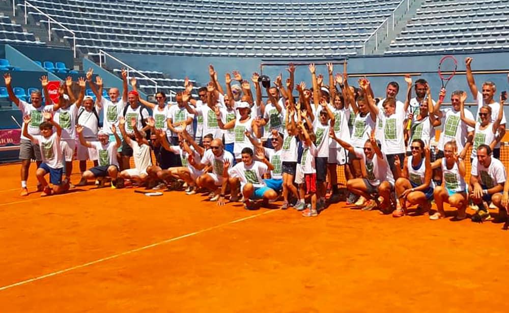Tutto l'entusiasmo dei protagonisti di Tennis in Vacanza