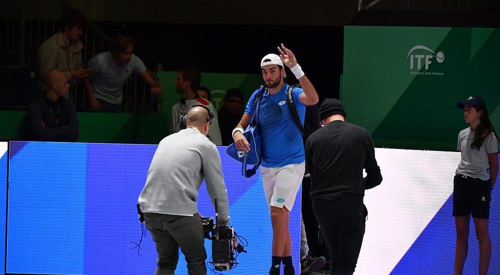Matteo Berrettini, Finali Coppa Davis 2019 - Foto Ray Giubilo