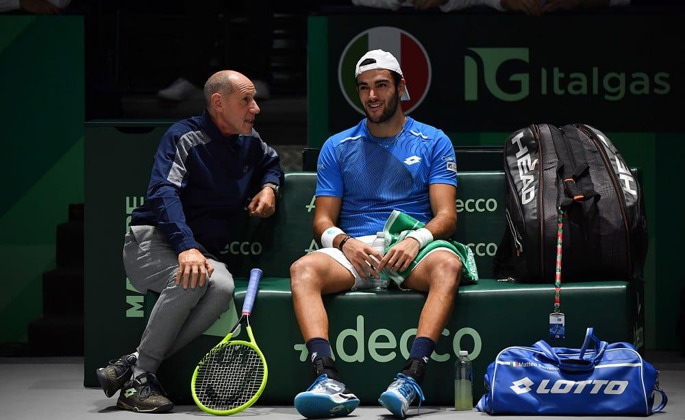 Matteo Berrettini e Corrado Barazzutti, Finali Coppa Davis 2019 - Foto Ray Giubilo