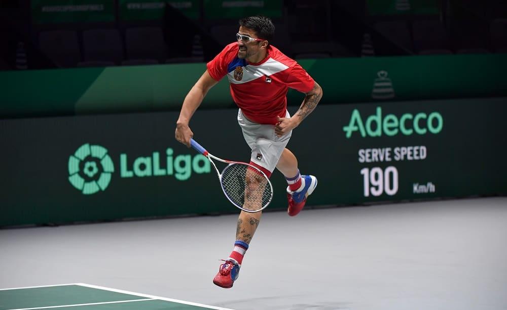 Janko Tipsarevic: finali Coppa Davis - Foto Ray Giubilo