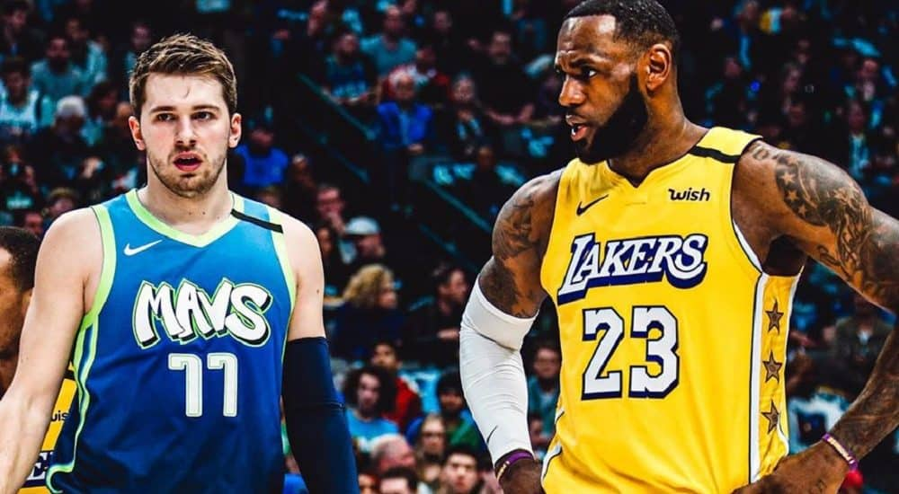 Luka Doncic e LeBron James, Dallas Mavericks Official Facebook Page