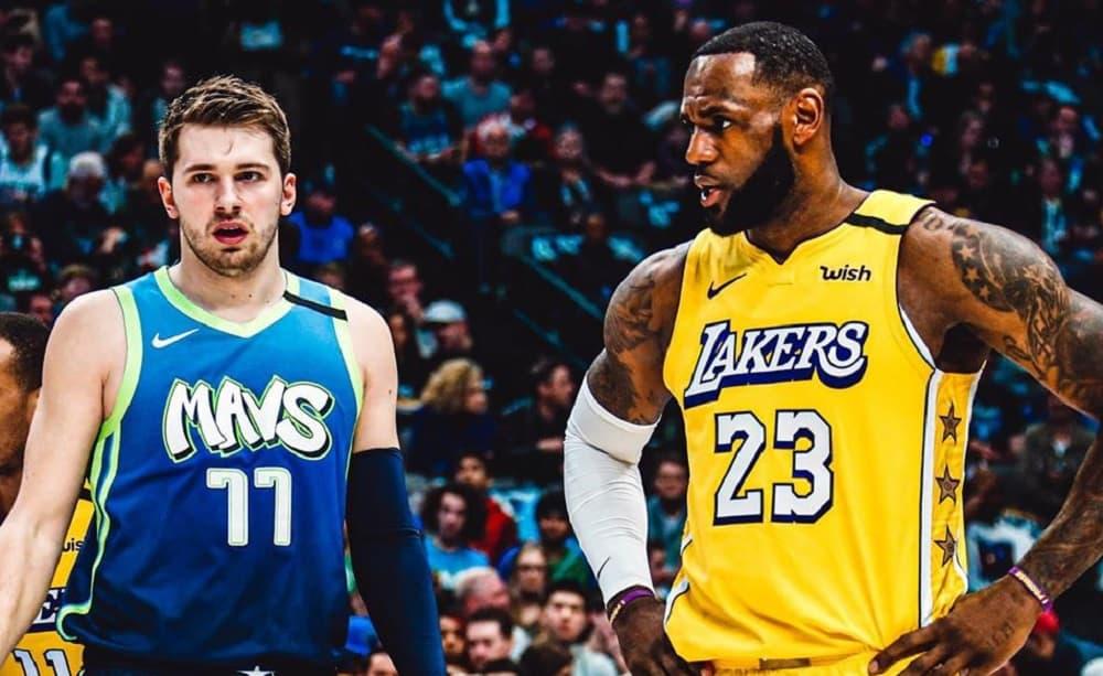 Luka Doncic e LeBron James, Dallas Mavericks Official Facebook Page